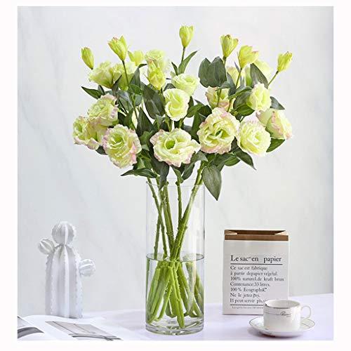 Yyqx Unechte Blumen Künstliche Blumen mit Vase, Fälschung Silk Blumen Blumenarrangements for Home Hochzeit Bürocenter Dekoration künstliche Blumen deko (Color : F)