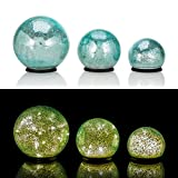 Online-Fuchs 3er Set Glaskugeln mit LED Lichterkette inkl. Timer - In und Outdoor geeignet - Deko...