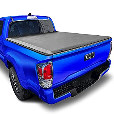 Tyger Auto T1 Soft Roll Up Truck Bed Tonneau Cover for 2005-2015 Toyota Tacoma Fleetside 5' Bed TG-BC1T9036, Black