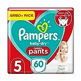 Pampers Baby Dry Pants - Pañales (talla 5 (12-17 kg) - Jumbo+ Pack (60 bragues)