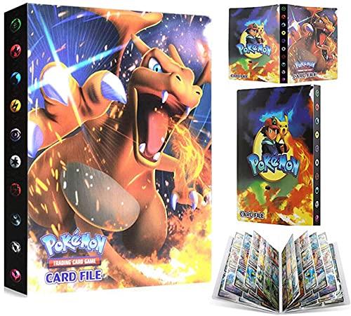 EMZOH Tarjetero Pokémon, Álbum de Pokemon Album Pokemon, Álbum de Cartas Coleccionables Pokémon, Album Pokemon Cartas , 30 Páginas, hasta 240 Tarjetas (Charizard)