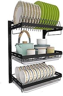 DJSMsnj Rangement de cuisine en acier inoxydable 201 - Égouttoir d'évier - Étagères de cuisine - Support de rangement pour...