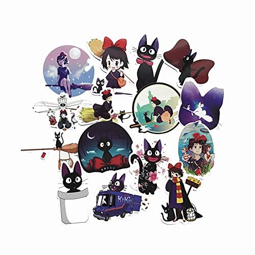 JZLMF 15 pegatinas de dibujos animados para trolley o guitarra, vaso de agua, tienda de tesoro, personalidad, pegatinas impermeables