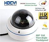 HD-CVI 1080P 2.0Megapixel Panorama CCTV Surveillance Fish Eye Camera Mini Security Camera 360 Degree
