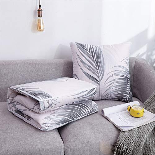 ZMXAWXJ 2 in 1 Kissen Deckenkissen Sofa Verwandlungskissen & Decke 150x110cm Besucherdecke Auto-Decke Kissen Set 09 40 * 40cm