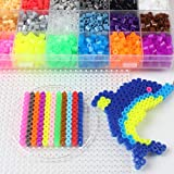 Dorime 1000pcs / Bag 5 mm Hama Beads Puzzle Toy Educación 48 Colores de Puzzle en 3D Cuentas de fusibles Rompecabezas para niños