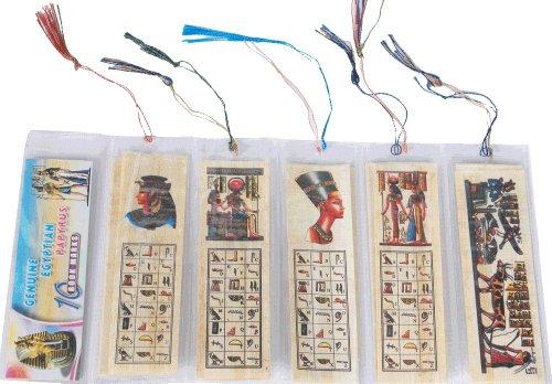 Lotto all' ingrosso 50papiro egiziano originale segnalibri segnalibri