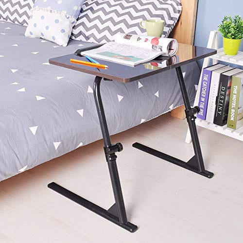 Wmagnifiy 80X40cm Laptop Stand Adjustable Computer Standing Desk Portable Side Table with Independent Mouse Board for Bed Sofa Hospital Reading Eating,Black
