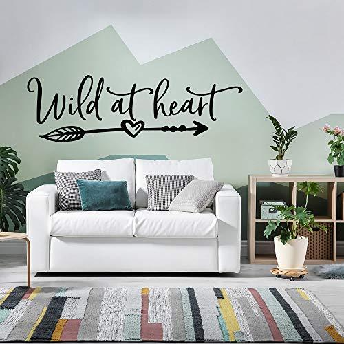 Tianpengyuanshuai Herz Wandaufkleber Wandkunst Aufkleber Mode Wandaufkleber Dekoration Movable Home-43X13cm