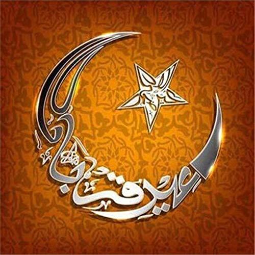 neivy Muslim Moon Icon Diamantmalerei unvollendet 5D DIY Diamantmalerei Kreuzstich Diamantstickerei Home Decoration (Quadrat 40x40cm)