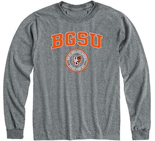 Ivysport Bowling Green State University Falcons Long Sleeve Adult Unisex T-Shirt, Heritage, Charcoal Grey, XX-Large