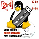 Latest MX Linux [LATEST VERSION] 16Gb USB Desktop 64Bit and 32Bit on Bootable USB + LINUX DVD VIDEO COURSE - 32 64 Bit 20 19