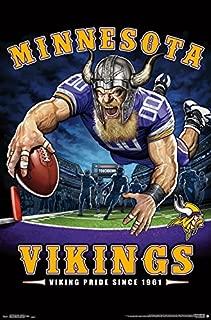 Trends International NFL Minnesota Vikings - End Zone Wall Poster, 22.375