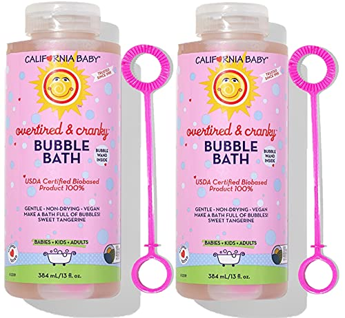 California Baby Bubble Bath - Overtired & Cranky, 13 oz (Pack of 2)