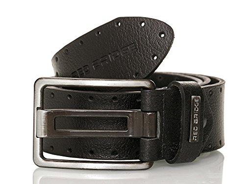 Redbridge Herren Echt Leder Gürtel Leather Belt echtes Leder schwarz 100 cm
