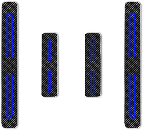 Para I-miev ASX Outlander Pajero L200 SPACE STAR, Decoración Pegatina para Estribos, Protección de Pedal de umbral, Faldones Laterales Fibra de Carbono, Evitar el Desgaste