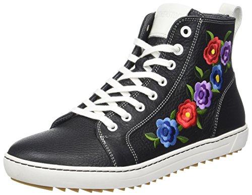 BIRKENSTOCK Damen Bartlett Women Hohe Sneaker, Schwarz (Inuit Flowers Black), 41 EU