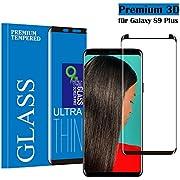 Panzerglas Schutzfolie für Samsung Galaxy S9 Plus , Qechen 3D Curve Displayschutzfolie [Ultra Klar] [9H Härtegrad] [Anti-Kratzen] [Anti-Fingerabdruck] Gehärtetes Glas Panzerglas Folie für Samsung Galaxy S9 Plus