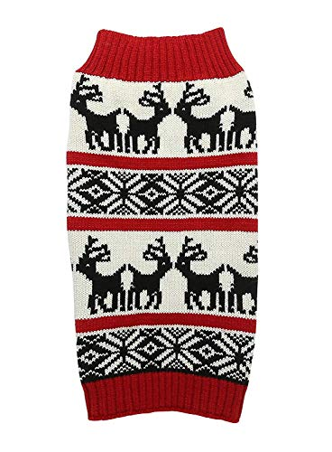 Ugly Vintage Knit Xmas Reindeer Holiday Festive Pet Clothes Dog Sweater for Large Dogs, X-Large (XL) Size