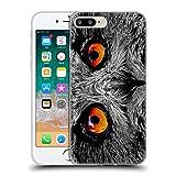 Head Case Designs Licenciado Oficialmente Catspaws Orange Eye Owl Animales 2 Carcasa de Gel de Silicona Compatible con Apple iPhone 7 Plus/iPhone 8 Plus