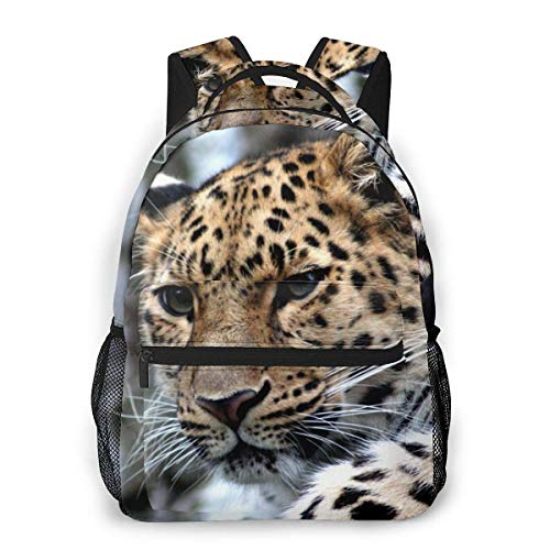 Lawenp Fashion Unisex Backpack Cute Leopard Bookbag Lightweight Laptop Bag for School Travel Outdoor Camping
