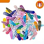 Beauty Shopping 60Pcs Girl Snap Hair Clips Barrettes, Updated Metal Hair Barrettes Non-Slip for Baby's