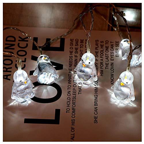 LED Pinguin Tierform Lichterketten Nachtlicht Zeichen Licht Dekor Schlafzimmer Wohnzimmer Garten Straße Dekoratives Licht Urlaub Beleuchtung (Weiß)