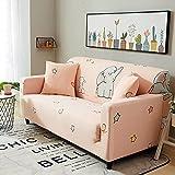 ASCV Funda de sofá elástica Funda de sofá Universal Suave Funda de sofá para Sala de Estar Funda de sofá Estilo decoración del hogar Funda A9 2 plazas