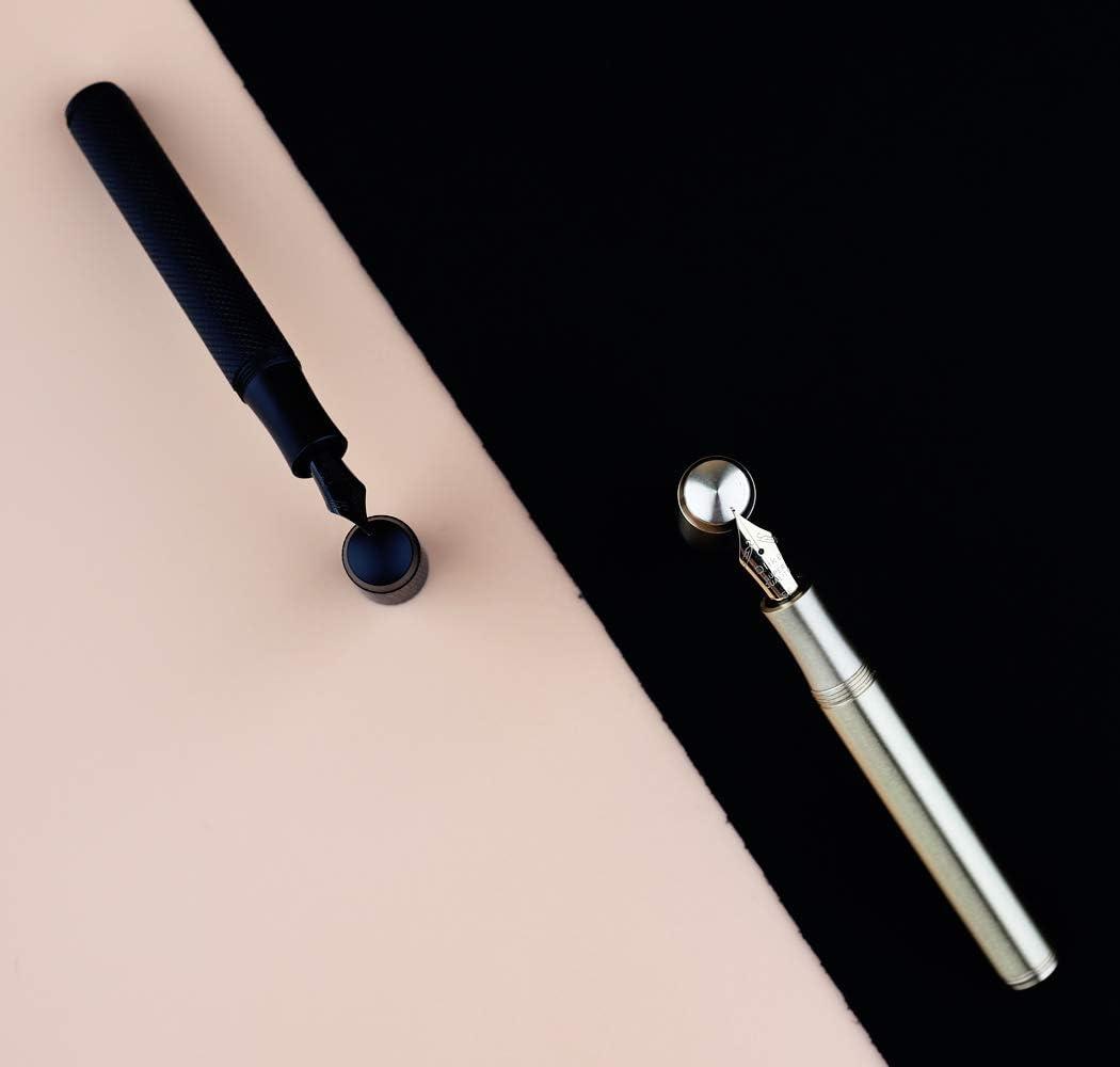 EF Bent Nib, brass color 2020 Delike Metal Black Brass Fountain Pen EF//F//Bent Nib Ink Pen Original Box