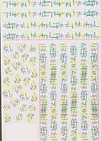 3Dアクリル刻まれたネイルステッカー冬のセーターチャーム動き水デカールエンパス主義ネイルウォータースライドデカール (Color : 21)