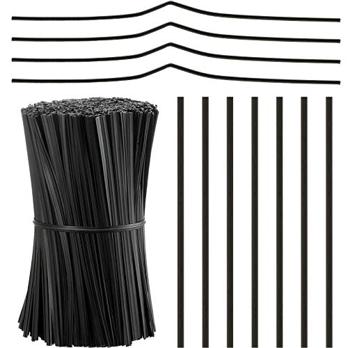 1000 Pieces Plastic Coated Twist Ties Twist Cord Wire Cable Ties Reusable Nose Bridge Strips for Party Cello Candy Bread Bags Cake Pops, 3.9 Inch Length (Black)