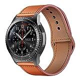 iBazal Cinturino Galaxy Watch 46mm Pelle 22mm Cinturini Cuoio Compatibile con Samsung Gear S3 Frontier Classic SM-R760/770,Huawei Watch 2 Classic/GT/Honor Magic,TicWatch Pro/E2/S2 - Sport Marrone