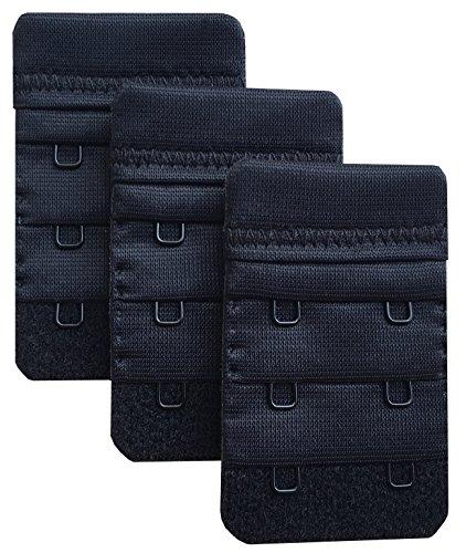 Chanie Femme Lot de 3 Doux Confortables Extensions de soutien-gorge 2 Crochets, 6,1cm x 3,8cm