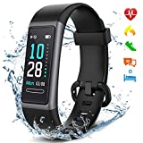 LETSCOM Kids Fitness Tracker with Heart Rate Monitor, Activity Tracker Watch with Sleep Monitor, IP68 Waterproof Fitness Watch with Step and Calorie Counter, Pedometer Watch for Women Men