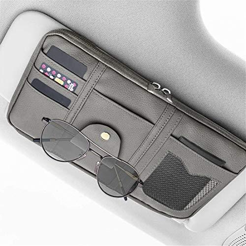 Organizador de visera de coche con tarjeta, soporte de gafas multifuncional, bolsa de almacenamiento para colgar el coche, organizador de almacenamiento, bolsas para tarjetas de arreglo, bolsillos