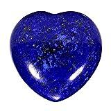 Morella Portafortuna a forma di cuore gemma pietre preziose Lapislazzuli 3 cm in un sacchetto di velluto