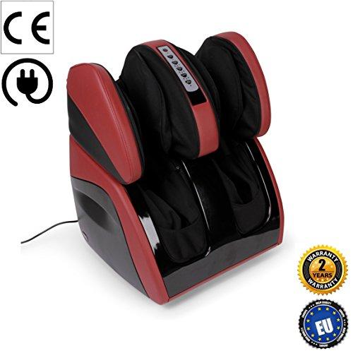 Massaggiatore di piedi, gambe, ginocchia e cosce VITALZEN PLUS (nuovo modello 2017) Colore Rosso - Sistema di massaggio di airbag (30 airbag) con 3 modalità di massaggio e 3 livelli di intensità - Massaggio di impastamento con 3 modalità - Massaggio di calore - Design ergonomico con 2 sezioni reclinabili (110° e 20° di reclinazione) - Pannello di controllo di facile maneggio - Garanzia Ufficiale 2 ANNI di Global Relax