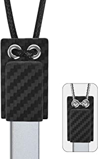 2 In 1 Magnetic Anti-Loss Necklace for JUUL, Keychain Lanyard Leash Holder Cover Case 2 Pack(1 holder, a metal chain, a cord) - Device Not Included