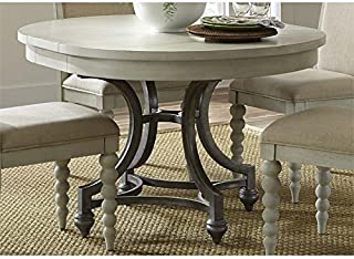 BOWERY HILL Round Dining Table in Dove Gray
