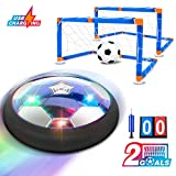 Hover Soccer Ball, Soccer Games for Kids-Rechargeable Air Soccer, 2 Goals, Air Soccer Disc with Led Light Foam Bumpers, Include 2 Scoreboards Gift Toys for 3 4 5 6 7 8 9 10 11 12 Years Old Boys, Girls