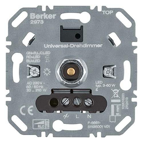 Berker Uni-Drehdimmer (R,L,C,LED) 2973 Lichtsteuerung Dimmer 4011334510079