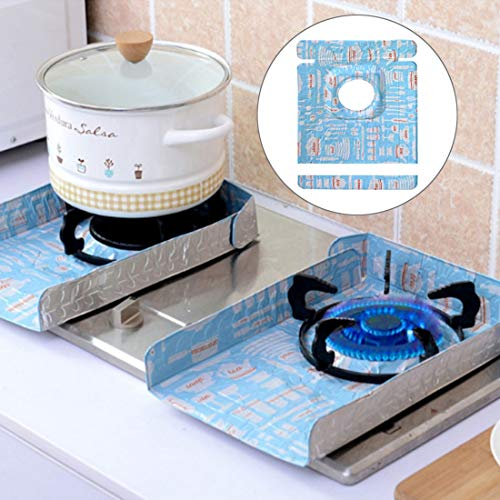 Kitchen Supplies WJ2 PCS Gasherd Protectors Geschirr Druck Foil Hitzebeständige Anti-Fouling Liner Reinigung Küchenhelfer Mat (Farbe : Color1)