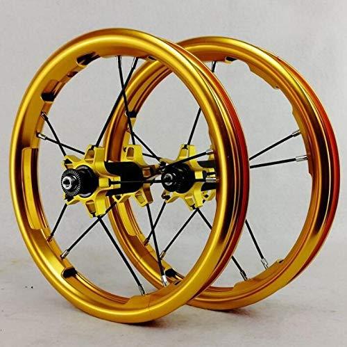 No brand Sliding Bike Ruote 12inch Cuscinetto sigillato BMX dei Bambini dei Bambini Balance Scorrere rotelle di Bicicletta 85 Millimetri 95mm BMX Rims 260g Solo (Color : Gold 85mm or 95mm)