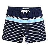 MaaMgic pantalocini da Bagno per bambimi Ragazzini Asciugatura Rapida Costume da Mare Spiaggia Piscina Slip Interno, Blu Blu Navy, 3-4 Anni