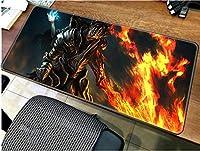 マウスパッド暗い魂マウスパッドゲーマーラージ900x400mmゲーミングマウスパッドホームノートブックPCアクセサリーマウスパッド人間工学マット-90cmx40cm_(E)
