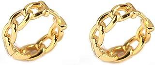 Minimalist Link Small Hoop Earrings S925 Sterling Silver for Women Girls Statement Cartilage Tragus Huggie Hinged Hoops Ea...