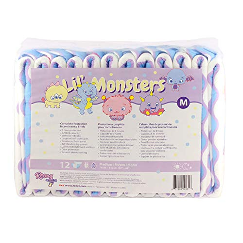 Rearz - Lil' Monsters - V3.0 - Adult Diapers (12 Pack) (Small)