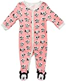 Disney Baby Girls? Sleep N? Play ? Footie Pajamas: Minnie Mouse, Daisy Duck, Princess (Newborn/Infant), Size 0-3 Months, Pink Lemonade Minnie