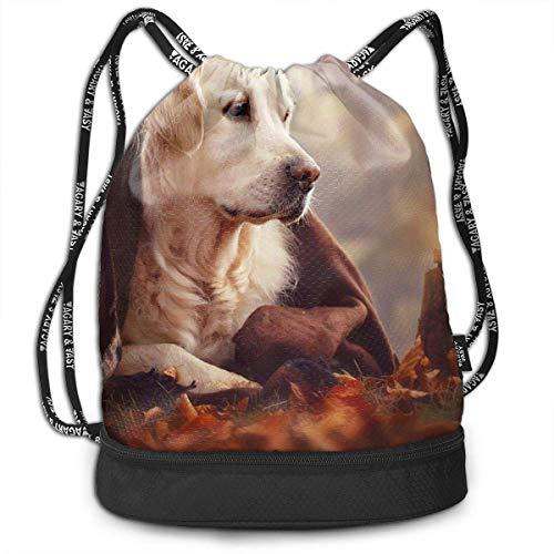 Leila Marcus Rucksack mit Kordelzug, für Hunde und Spielzeug, zur Aufbewahrung von Hunden und Wandern