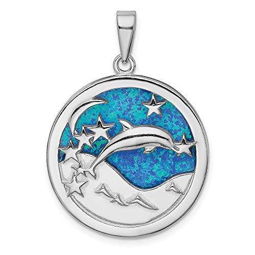 925 Sterling Silver Rhod Plated Blu…